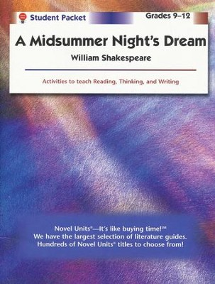 Midsummer Night's Dream, Novel Units Student Packet, Grades 9-12   -     By: William Shakespeare