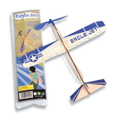 Balsa Plane, Rubberband Powered  -