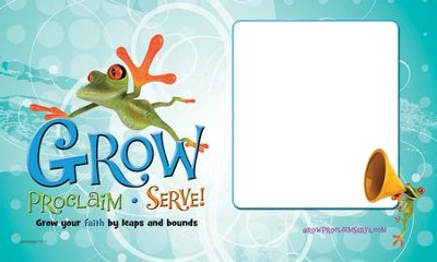 Grow, Proclaim, Serve! Sunday School Banner 2014-15   -