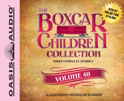 The Boxcar Children Collection Volume 40: The Spy Game, The Dog-Gone Mystery, The Vampire Mystery Unabridged Audiobook on CD  -     Narrated By: Tim Gregory, Aimee Lilly     By: Gertrude Chandler Warner