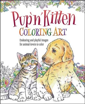 Pup 'N' Kitten Coloring Art  -