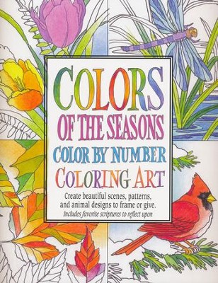 Colors of The Seasons, Color By Number Coloring Art  -