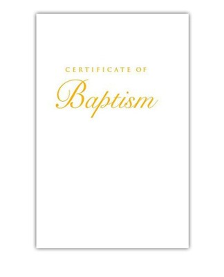 Abingdon Select Collection Certificate - Child Baptism (Gold)  -