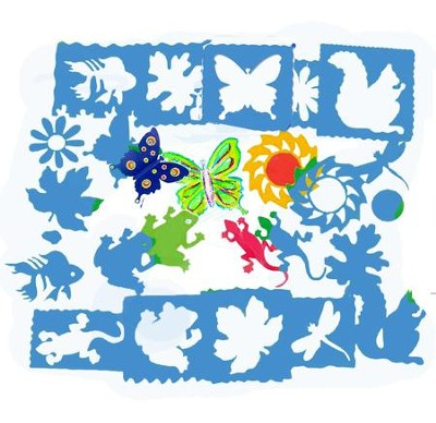 Nature Stencils (package of 10)   -
