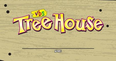 TreeHouse VBS Nametag Stickers, pack of 100   -