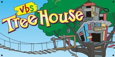 TreeHouse VBS Hanging Banner Display   -
