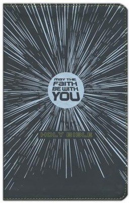 NIrV May the Faith Be with You Holy Bible, Imitation Leather, Black  -