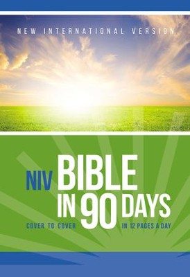 NIV Bible in 90 Days: Cover to Cover in 12 Pages a Day - eBook  -