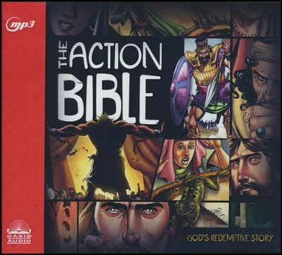 The Action Bible - unabridged audio book on MP3-CD  -