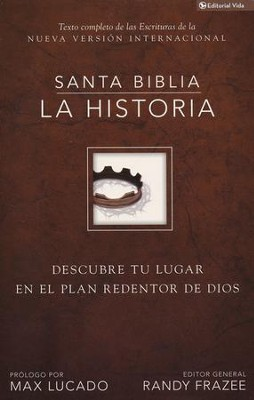 Biblia NVI La Historia, Enc. Dura  (NVI The Story: Going Deeper, Hardcover) - Slightly Imperfect  -     By: Randy Frazee