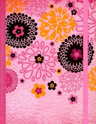 NIV My Journal Bible--hardcover, pink with elastic closure  -