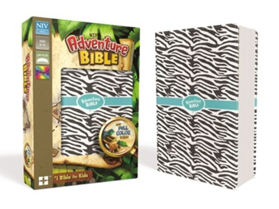 NIV Adventure Bible, Imitation Leather, Zebra Print  -     Edited By: Lawrence O. Richards