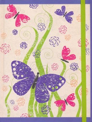 NIV My Journal Bible--hardcover, purple with elastic closure  -