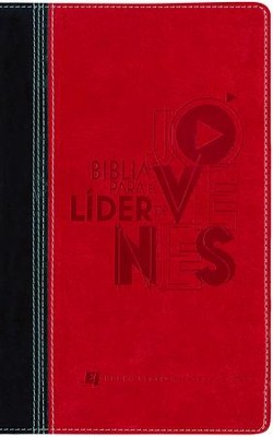 Biblia para el Lider de Jovenes NVI, Piel Imit. Negra/Rojo  (NVI Youth Leader Bible, Imit. Leather Black/Red)  -