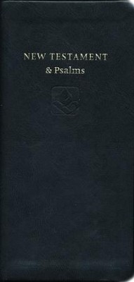 NRSV Slimline New Testament and Psalms, Anglicized, Imitation leather, black  -