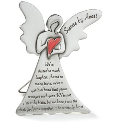 Sisters by Heart Pewter Angel   -
