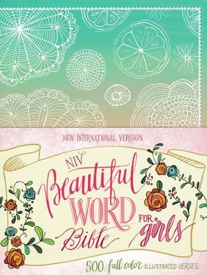 NIV Beautiful Word Bible for Girls--hardcover, teal  -