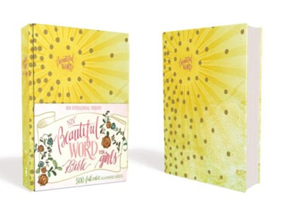 NIV Beautiful Word Bible for Girls--hardcover, yellow  -     By: Zondervan