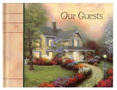 Simpler Times Guest Book - Hardcover                                    -     By: Thomas Kinkade
