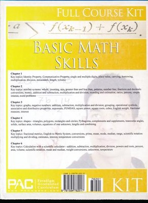 Basic Math Skills Full Course Kit   -