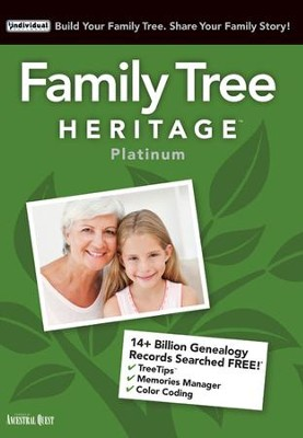 Family Tree Heritage Platinum 15 on CD-ROM   -