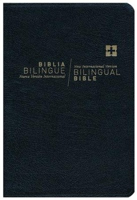 NVI/NIV Biblia bilingue Nueva Edicion Indice, Imitacion Cuero Negro (NVI/NIV Bilingual Bible, Indexed, Imitation Leather Black)  -