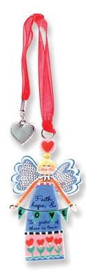 Faith, Hope, Love Keepsake Angel with Charm  -     By: Carol Eldridge
