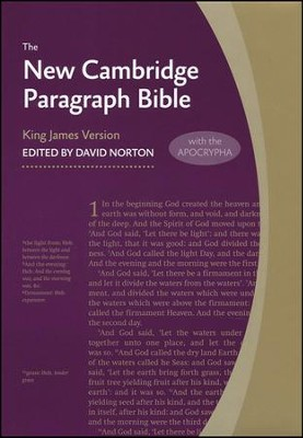 New Cambridge Paragraph Bible with Apocrypha, Personal Size, Hardcover, gray  -     Edited By: David Norton     By: David Norton