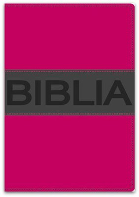 Biblia Ultrafina Compacta NVI, Rosa Vital, Piel Imit.  (NVI Compact Thinline Bible, DuoTone Leather, Pink/Charcoal)  -