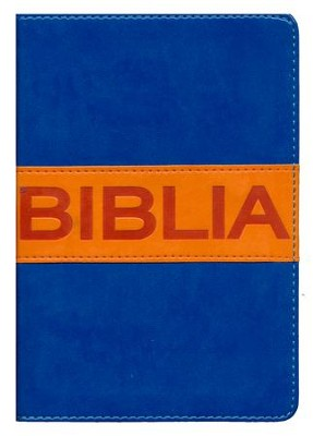 NVI Santa Biblia, ultrafina compacta, colleccion contempo, Italian Duo-Tone, Blue/Orange  -