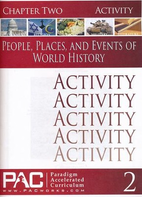 People, Places & Events of World History Chapter 2 Activities  -
