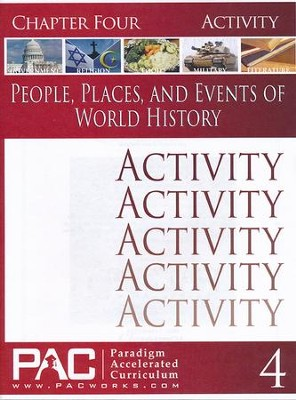People. Places, & Events of World History Chapter 4 Activities  -