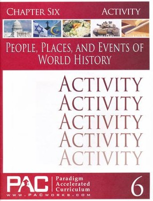 People, Places, & Events of World History Chapter 6 Activities  -