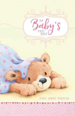 KJV Baby's First Bible Pink, Hardcover  -