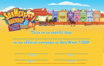 SonWest Roundup: Student Certificates - Pkg of 50  -