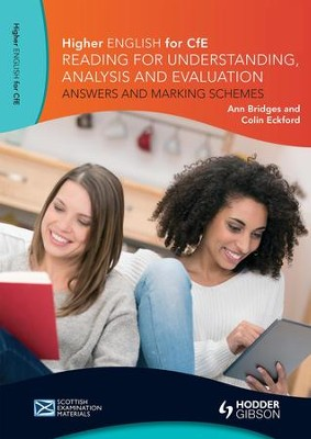 Higher English for CfE: Reading for Understanding, Analysis and Evaluation - Answers and Marking Schemes / Digital original - eBook  -     By: Ann Bridges, Colin Eckford
