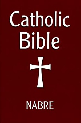 NABRE Catholic Bible-Paper, Burgundy   -