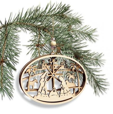 Nativity Ornament, Laser Cut  -