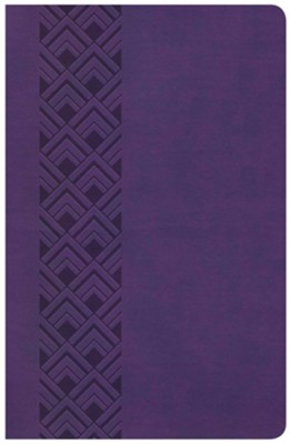 CSB Ultrathin Reference Bible, Purple LeatherTouch Value Edition  -