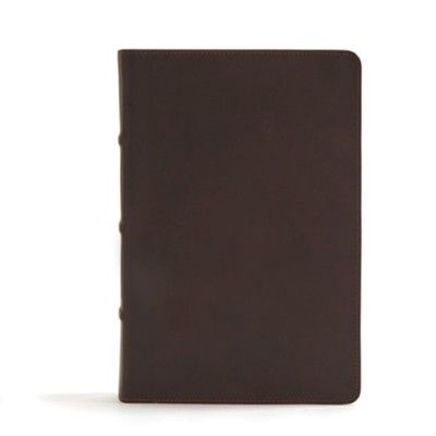 CSB Pastor's Bible, Brown Genuine Leather   -