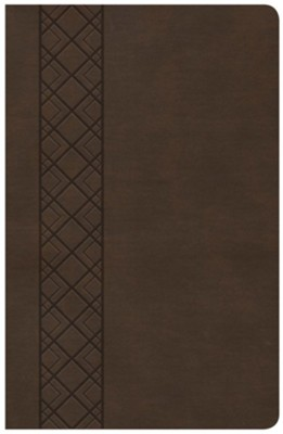 KJV Ultrathin Reference Bible, Brown LeatherTouch Value Edition  -