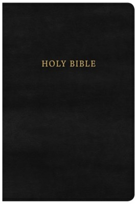 NKJV Large Print Personal Size Reference Bible, Black LeatherTouch Classic Edition  -