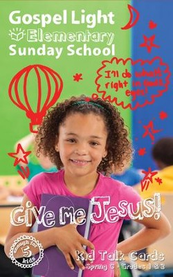 Gospel Light: Elementary Grades 1 & 2 Kid Talk Cards, Spring 2018 Year C  -