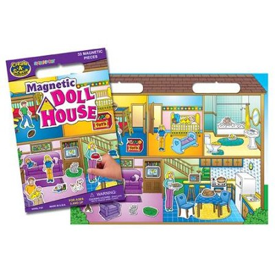 Magnetic Doll House Playset   -