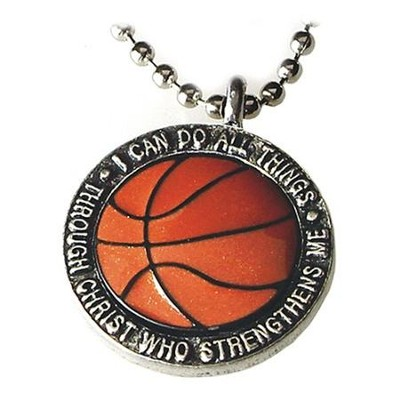 I Can Do All Things--Basketball Pendant   -