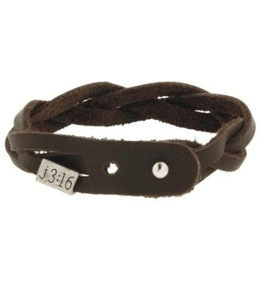 John 3:16 Braided Leather Bracelet   -