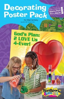 VBS 2015 SonSpark Labs - Decorating Poster Pack (Grades 1-6/Ages 6-12)  -