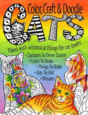 Color, Craft & Doodle Cats Activity Book  -