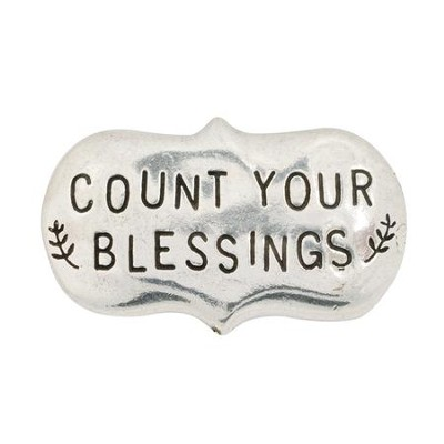Count Your Blessings Pewter Magnet  -