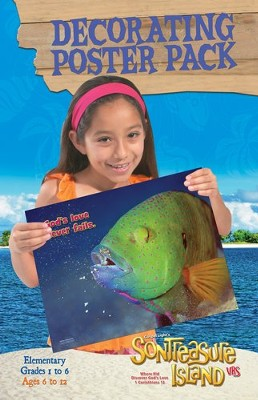 VBS 2014 SonTreasure Island- Decorating Poster Pack: Ages 5 to 12, Grades 1 to 6  -